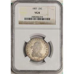 1807 Bust Quarter Coin NGC VG8