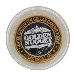 .999 Silver Golden Nugget Las Vegas, Nevada $10 Casino Limited Edition Gaming To