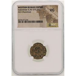 Valentinian ll 375-392 AD Ancient Western Roman Empire  Coin NGC VG