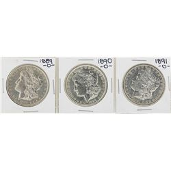 Lot of 1889-O to 1891-O $1 Morgan Silver Dollar Coins