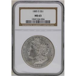 1885-S $1 Morgan Silver Dollar Coin NGC MS63