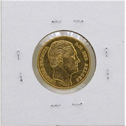 1865 Belgium Leopold 20 Francs Gold Coin