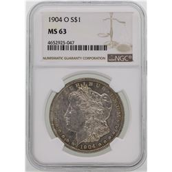 1904-O $1 Morgan Silver Dollar Coin NGC MS63 NICE TONING