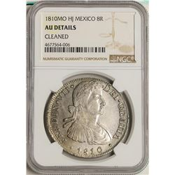 1810MO HJ Mexico 8 Reales Silver Coin NGC AU Details