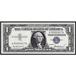 1957 $1 Silver Certificate Note Low Serial 3 Digit Number