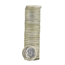 Roll of (50) 1962-D Brilliant Uncirculated Roosevelt Dimes