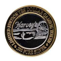 .999 Silver Harvey's Resort Hotel and Casino $10 Casino Limited Edition Gaming T