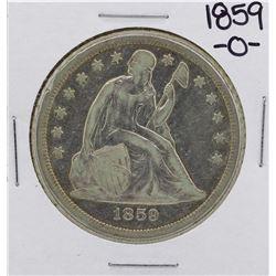 1859-O $1 Seated Liberty Silver Dollar Coin