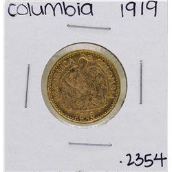 1919 Columbia 5 Pesos Gold Coin