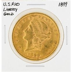 1899 $20 Liberty Head Double Eagle Gold Coin