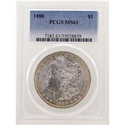 1888 $1 Morgan Silver Dollar Coin PCGS MS63