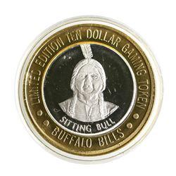 .999 Silver Buffalo Bills Resort & Casino Primm, NV $10 Limited Edition Gaming T