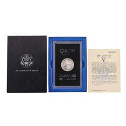 1882-CC $1 Morgan Silver Dollar Coin Uncirculated w/ Box GSA & COA
