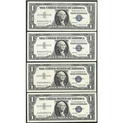 Lot of (4) 1957 $1 Silver Certificate Notes