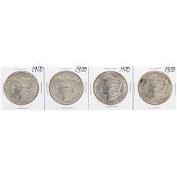 Lot of (4) 1900 $1 Morgan Silver Dollar Coins