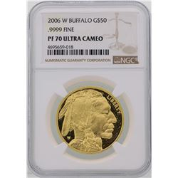 2006-W $50 American Buffalo Gold Coin NGC PF70 Ultra Cameo