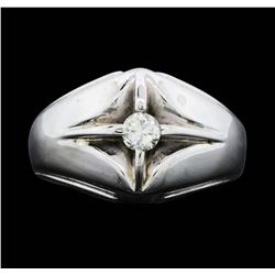 14KT White Gold Men's 0.25 ctw Diamond Ring