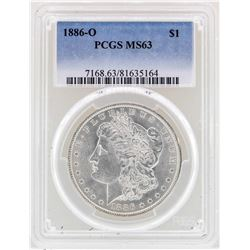1886-O $1 Morgan Silver Dollar Coin PCGS MS63
