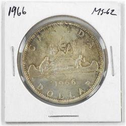 1966 Canada Silver Dollar. MS62