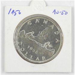 1956 Canada Silver Dollar. AU-50