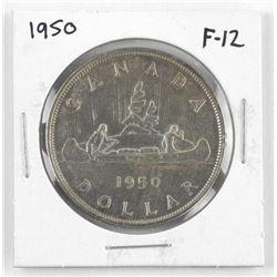 1950 Canada Silver Dollar. F-12