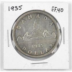 1935 Canada Silver Dollar. EF40