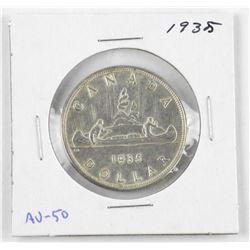 1935 Canada Silver Dollar.