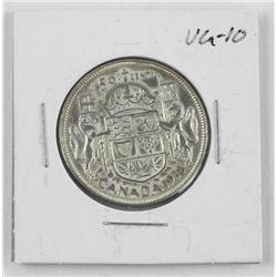1938 Canada Silver Half Dollar. VG-10