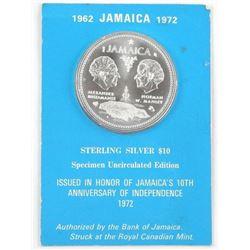 1962 Jamaica 10.00 Specimen UNC Edition .925