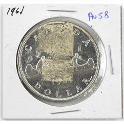 1961 Canada Silver Dollar AU-58