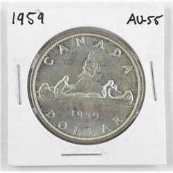 1959 Canada Silver Dollar. AU-55