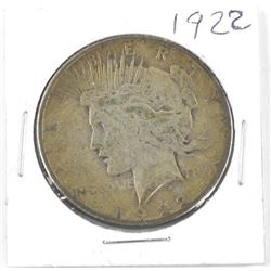 1922 USA Silver Peace Dollar
