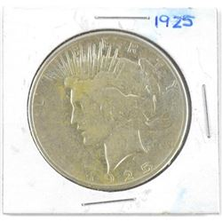 1925 USA Silver Peace Dollar