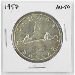 1957 Canada Silver Dollar. AU50
