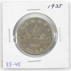 1935 Canada Silver Dollar. EF-45