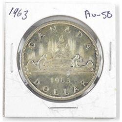 1963 Canada Silver Dollar AU-50
