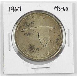 1867-1967 Canada Silver Dollar MS-60