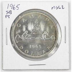 1965 Canada Silver Dollar MS-62. SB. Ptd 5