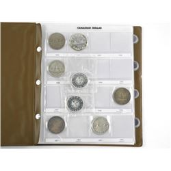 Canada Silver Dollar Collection 19 Coins - Uni Saf