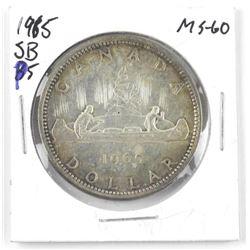 1965 SB Canada Silver Dollar. MS-60