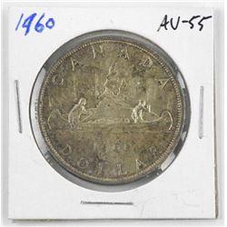 1960 Canada Silver Dollar. AU-55