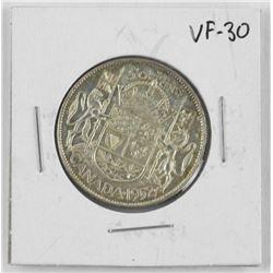 1952 Canada Silver 50 Cent VF-30