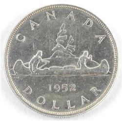 1952 Canada Silver Dollars. EF45. NWL