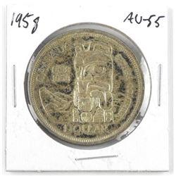 1958 Canada Silver Dollar AU-55