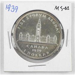 1939 Canada Silver Dollar MS-62