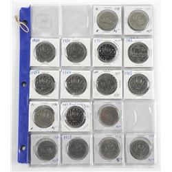 Lot (24) Canada Dollar Coins - Nickel, Key Dates,