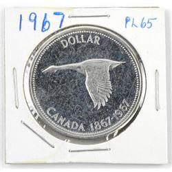 1967 Canada Silver Dollar PL 65