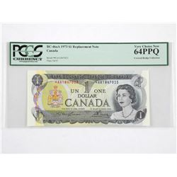 Bank of Canada 1973 * Replacement 1.00, Covered Br
