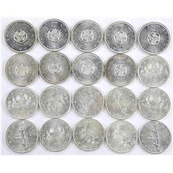 Lot (20) Mixed Canada Silver Dollar