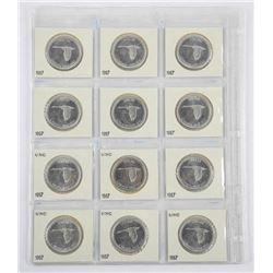 Lot (12) 1967 Canada Silver Dollar BU-UNC 2x2